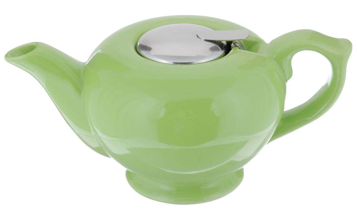 Чайник заварочный Loraine, с фильтром, цвет: салатовый, 1,2 л23060_салатовыйЗаварочный чайник Loraine изготовлен из высококачественной керамики и нержавеющей стали. Изделие оснащено фильтром, благодаря которому задерживает чаинки и предотвращает их попадание в чашку. Глянцевый корпус обеспечивает легкую очистку. Чайник поможет заварить крепкий ароматный чай и великолепно украсит стол к чаепитию. Диаметр чайника (по верхнему краю): 12,5 см. Высота чайника (без учета крышки): 12 см. Высота фильтра: 6 см.