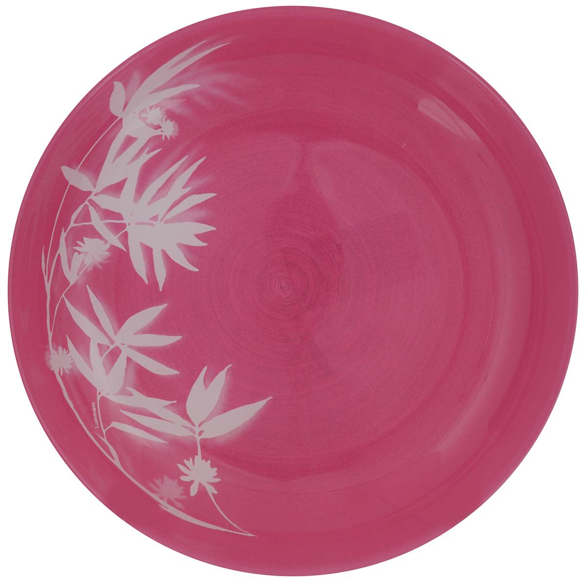 Тарелка обеденная Luminarc Darjeeling Pink, диаметр 20 смH3570Обеденная тарелка Luminarc Darjeeling Pink, изготовленная из высококачественного стекла, имеет изысканный внешний вид. Яркий дизайн придется по вкусу и ценителям классики, и тем, кто предпочитает утонченность. Тарелка Luminarc Darjeeling Pink идеально подойдет для сервировки стола и станет отличным подарком к любому празднику. Диаметр (по верхнему краю): 20 см.