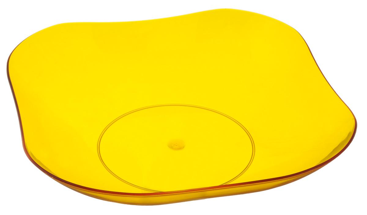 Фруктовница Berossi Ice, цвет: желтый, 24 х 24 смИК08318000Оригинальная фруктовница Berossi Ice изготовлена из высококачественного нетоксичного пластика. Она идеально подходит для хранения и красивой сервировки любых фруктов. Современный дизайн отлично впишется в интерьер вашей кухни. Вместительная фруктовница Berossi Ice позволит красиво уложить фрукты, сделав сервировку стола изысканной и незабываемой. Размер фруктовницы (по верхнему краю): 24 х 24 см.
