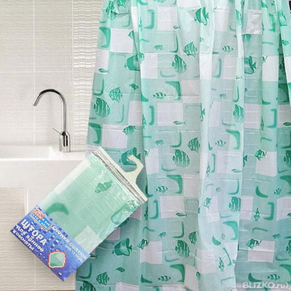 Штора для ванной комнаты Дом и все, что в нем, цвет: белый, зеленый, 180 х 180 см839-005Штора Дом и все, что в нем, изготовленная из водонепроницаемого полимерного материала с изображением рыбок, идеально защищает ванную комнату от брызг. Яркий дизайн шторы украсит интерьер ванной комнаты. В комплекте прилагаются 12 пластиковых колец. Рекомендации по уходу: не стирать и не подвергать химчистке - просто протереть поверхность теплой водой.