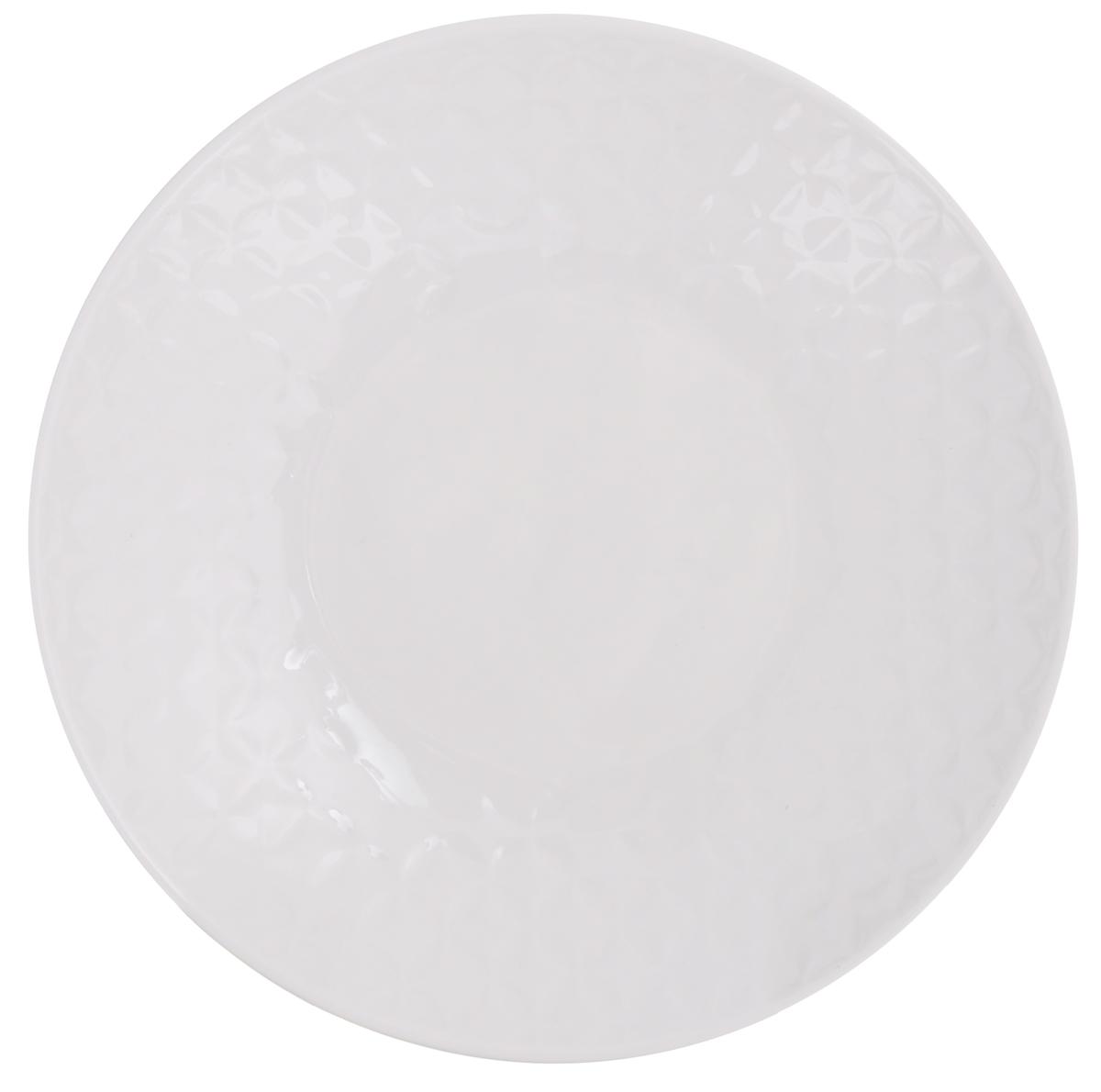 Тарелка суповая Walmer Quincy, цвет: белый, диаметр 21 смW07531021Суповая тарелка Walmer Quincy, выполненная из высококачественного фарфора, декорирована рельефным орнаментом. Изящный дизайн придется по вкусу и ценителям классики, и тем, кто предпочитает утонченность. Суповая тарелка Walmer Quincy идеально подойдет для сервировки стола и станет отличным подарком к любому празднику. Можно использовать в микроволновой печи и мыть в посудомоечных машинах. Диаметр тарелки (по верхнему краю): 21 см. Высота стенки: 4 см.