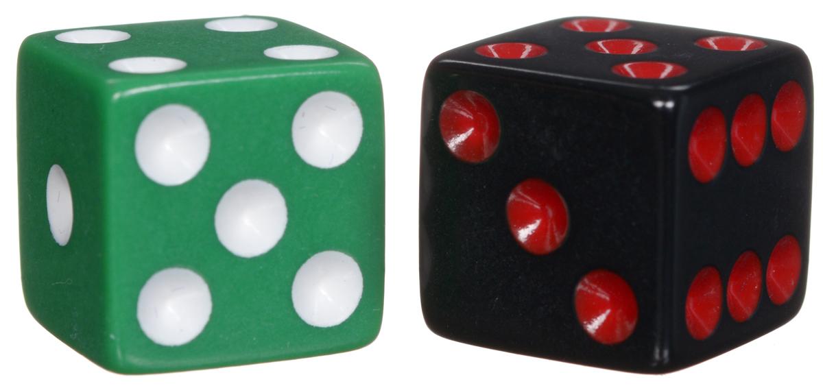Koplow Games Набор игральных костей Простые D6 цвет зеленый черный 2 шт