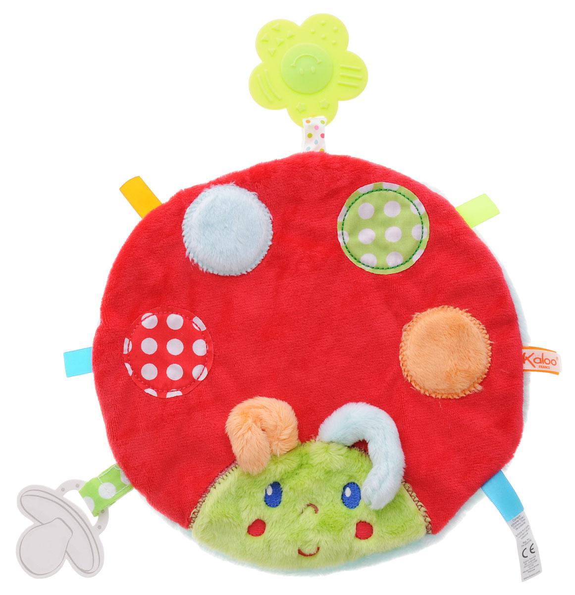 Kaloo Игрушка-комфортер Божья коровкаK963334Комфортер Kaloo Божья коровка позволит малышу спокойно и сладко уснуть и на долгое время станет его постоянным спутником. Особенность игрушки-комфортера состоит в том, что сначала маме необходимо некоторое время подержать игрушку рядом с собой для того, чтобы она впитала материнский запах. После чего игрушку можно дать и малышу. Младенцу будет очень комфортно засыпать с такой игрушкой, она позволит ему быстро успокоиться и сладко заснуть. Со временем комфортер станет не просто игрушкой для сна, но и любимым защитником от плохих сновидений и детских страхов. Игрушку приятно держать в руках и прижимать к себе. Выполнена из безопасных материалов в виде милой божьей коровки.