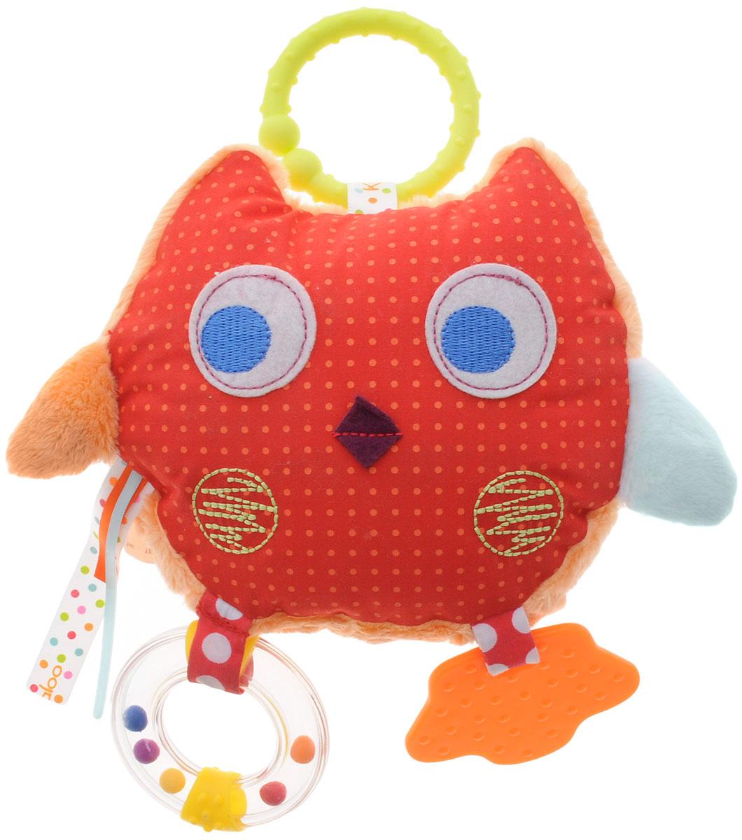 Kaloo Мягкая развивающая игрушка СоваK963299Мягкая развивающая игрушка Kaloo Сова надолго увлечет вашего малыша и обязательно станет одной из любимых игрушек, которую вы будете брать с собой на прогулку. Игрушка выполнена в виде очаровательного совенка с яркими ленточками, погремушкой, прорезывателем и шуршащим элементом. При нажатии на совенка издается забавный писк. Таким образом, игрушка представляет собой целый комплекс развивающих элементов, которые увлекут ребенка. С помощью удобного колечка можно будет подвесить игрушку к коляске или автокреслу и взять с собой на прогулку или в поездку. Игрушка выполнена из безопасных материалов, приятных на ощупь. Предназначена для детей с самых первых дней их жизни.