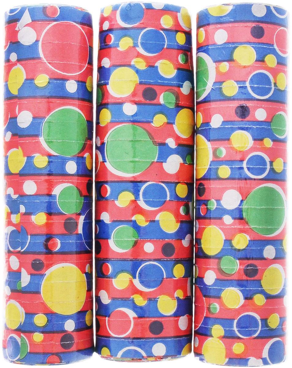 Action! Серпантин Кружочки 3 штAPI0156Серпантин Action! Кружочки, изготовленный из бумаги красного, синего, желтого и зеленого цветов и декорированный изображениями кружочков, придаст праздничную атмосферу любому торжеству.