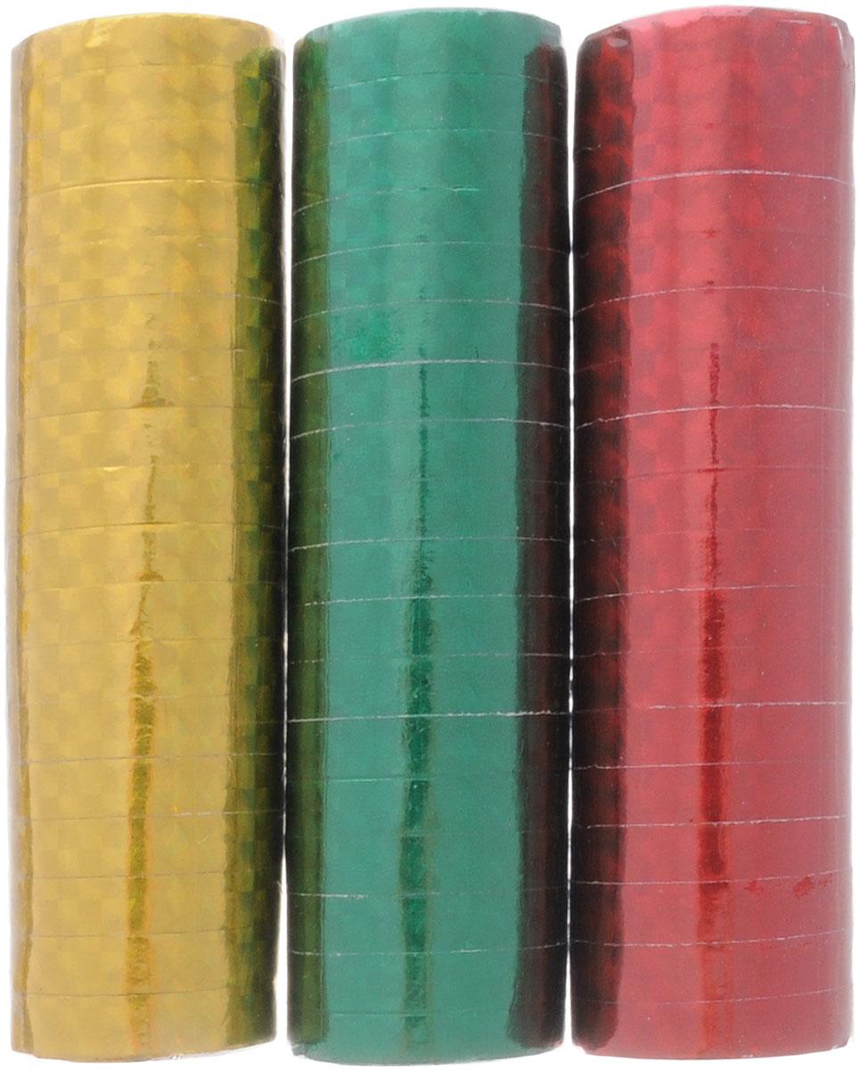 Action! Серпантин голографический 3 штAPI0158Голографический серпантин Action - разноцветные узкие ленты из голографической бумаги, свернутые в рулончики. Их можно бросать в публику во время праздников, балов и маскарадов, либо развешивать в местах проведения празднеств. Серпантин уместен на торжестве любого формата.
