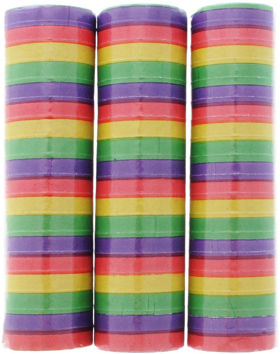 Action! Серпантин Радужный 3 штAPI0154Серпантин Action! Радужный - разноцветные узкие бумажные ленты, свернутые в рулончики. Их можно бросать в публику во время праздников, балов и маскарадов, либо развешивать в местах проведения празднеств. Серпантин уместен на торжестве любого формата.