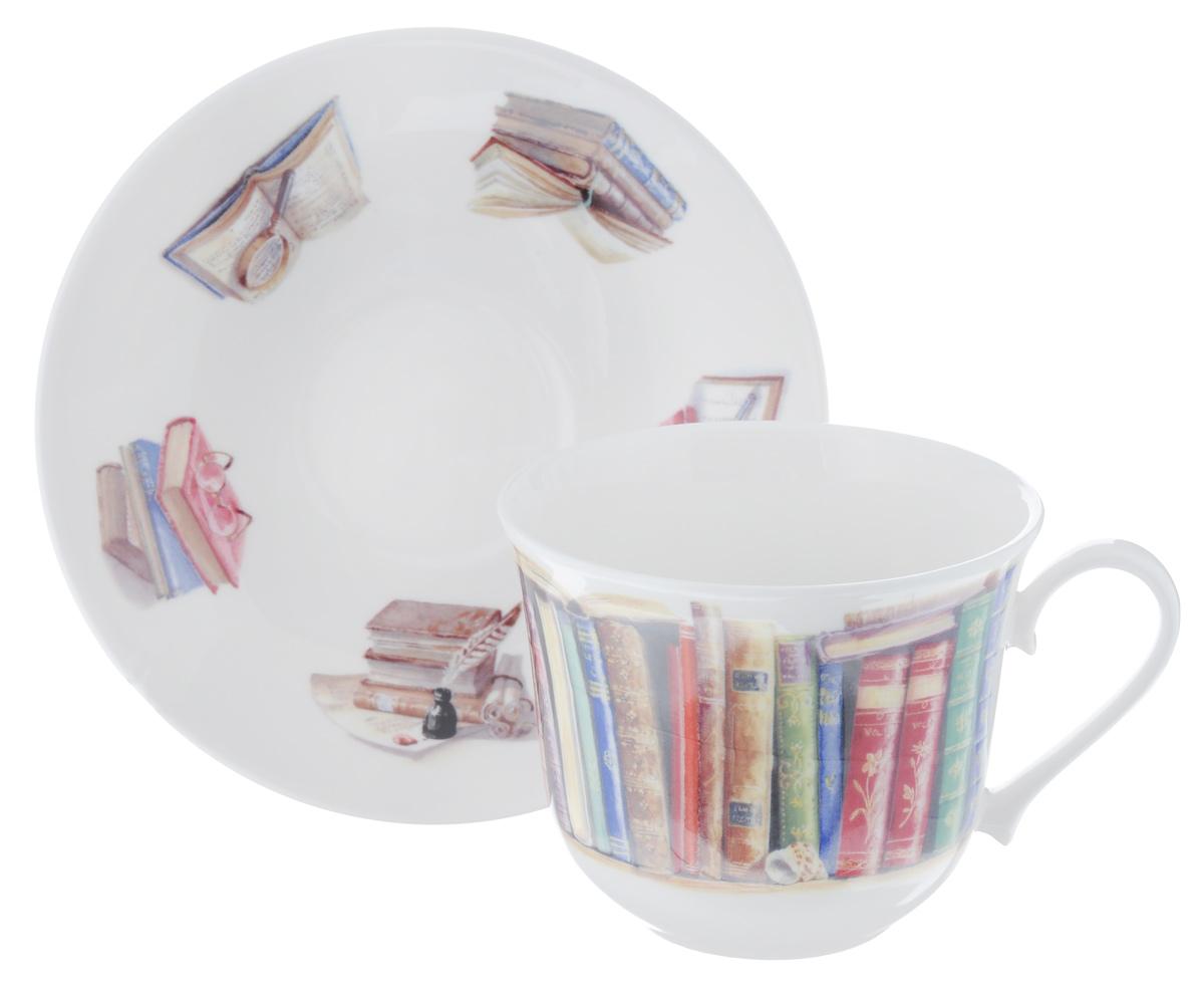 Чайная пара Roy Kirkham Литература, 2 предметаXCWRIT1100Чайная пара Roy Kirkham Литература состоит из чашки и блюдца, изготовленных из тонкостенного костяного фарфора высшего качества, отличающегося необыкновенной прочностью и небольшим весом. Изделия оформлены изображением книг. Яркий дизайн, несомненно, придется вам по вкусу. Чайная пара Roy Kirkham Литература украсит ваш кухонный стол, а также станет замечательным подарком к любому празднику. Объем чашки: 500 мл. Диаметр чашки по верхнему краю: 10,5 см. Высота чашки: 8,5 см. Диаметр блюдца: 17 см. Высота блюдца: 3 см.