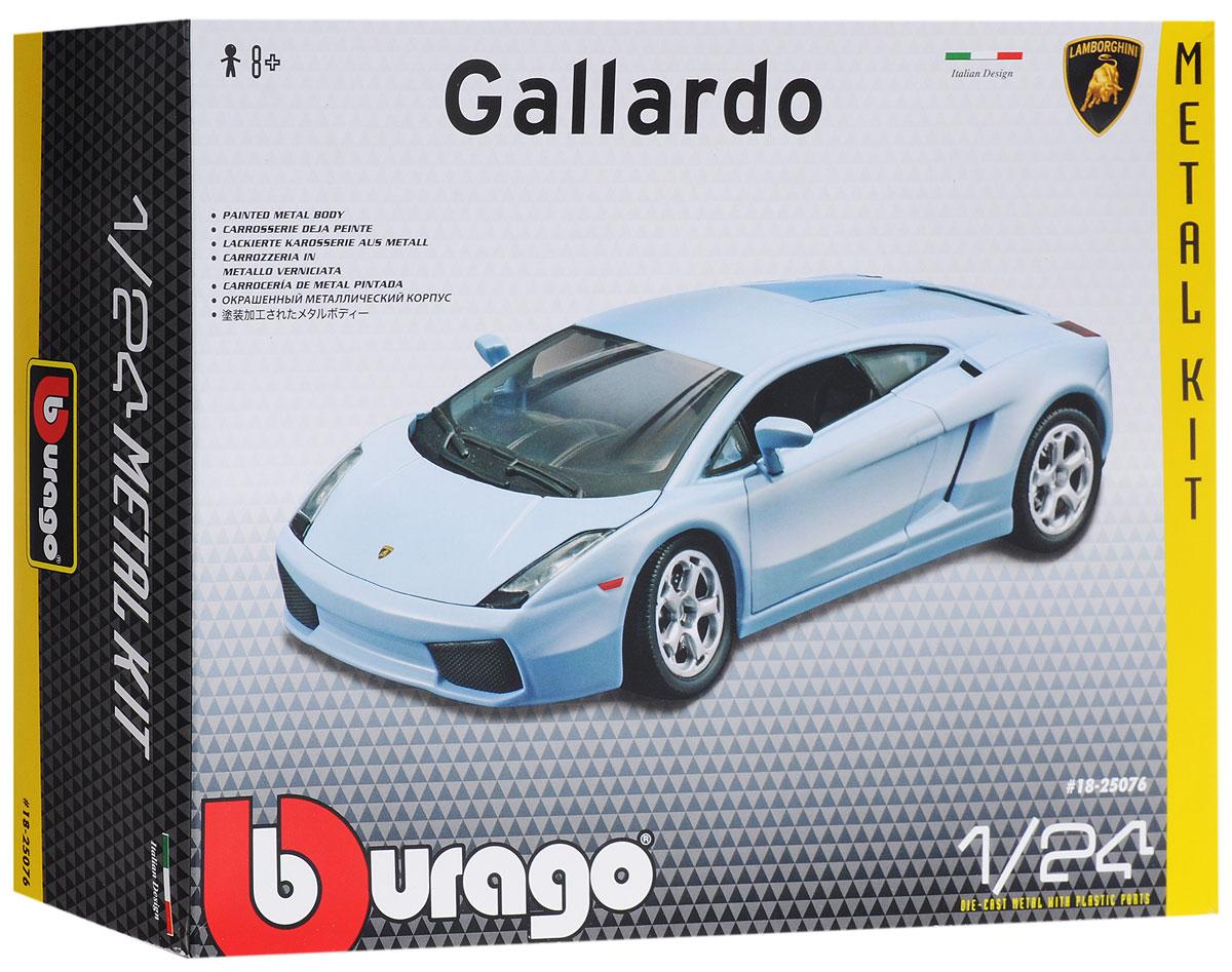 Bburago Сборная модель автомобиля Lamborghini Gallardo18-25076Сборная модель автомобиля Bburago Lamborghini Gallardo - точная копия настоящего автомобиля c высокой степенью детализации, которая одинаково понравится как взрослому, так и ребенку. Модель представлена в масштабе 1:24 и в точности воспроизводит все детали внешнего облика реального автомобиля. Корпус автомобиля выполнен из металла с использованием пластиковых элементов, колеса - из резины. Машина оборудована открывающимися дверцами, капотом и подвижными колесами. Во время игры с такой машинкой у ребенка развивается мелкая моторика рук, фантазия и воображение. В комплекте: элементы для сборки модели, наклейки и схематичная инструкция по сборке. Модель собирается без использования клея.