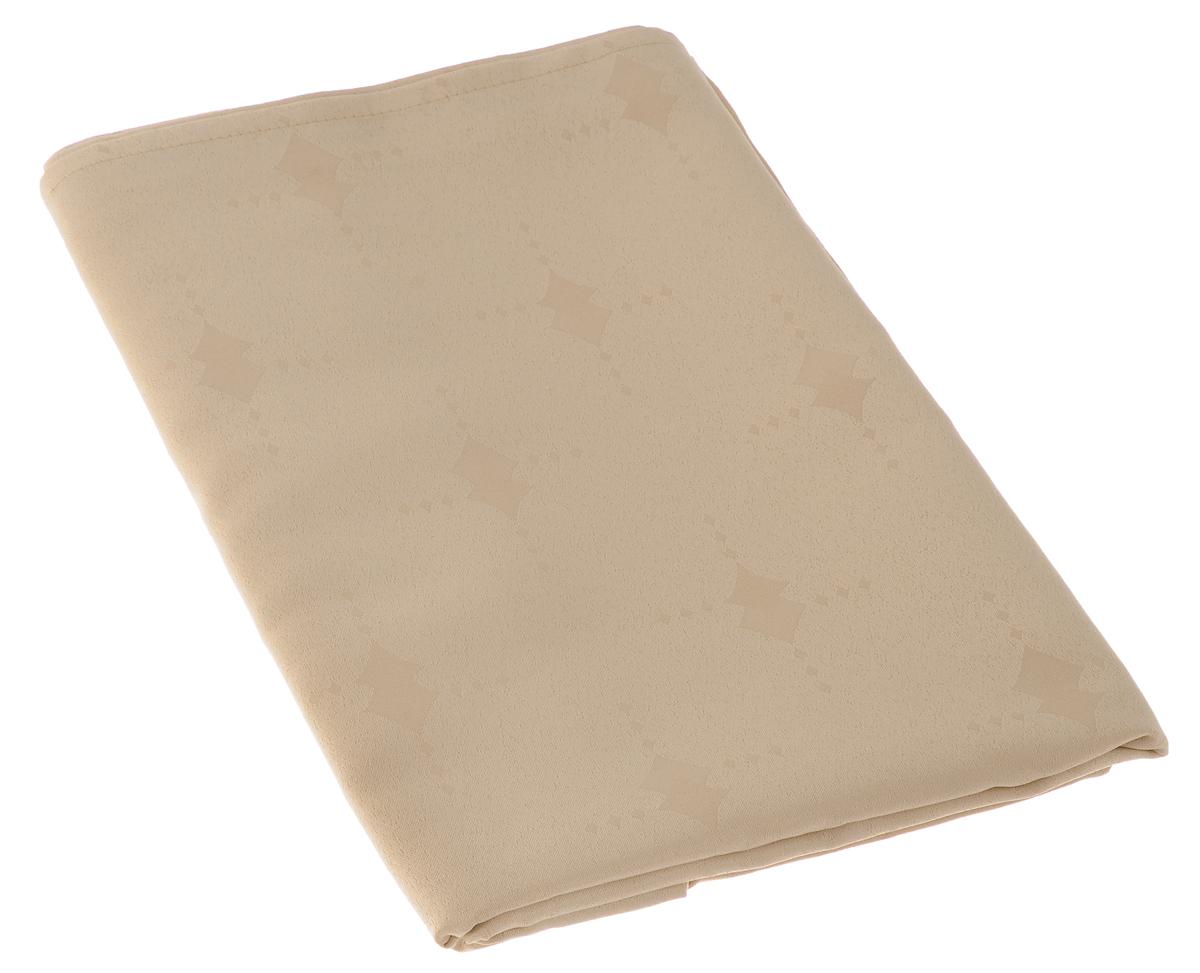 Скатерть Schaefer, прямоугольная, цвет: бежевый, 130 х 160 см. 07507-42707507-427Изящная прямоугольная скатерть Schaefer, выполненная из плотного полиэстера, станет украшением кухонного стола. Изделие декорировано красивым узором в виде ромбов. За текстилем из полиэстера очень легко ухаживать: он не мнется, не садится и быстро сохнет, легко стирается, более долговечен, чем текстиль из натуральных волокон. Использование такой скатерти сделает застолье торжественным, поднимет настроение гостей и приятно удивит их вашим изысканным вкусом. Также вы можете использовать эту скатерть для повседневной трапезы, превратив каждый прием пищи в волшебный праздник и веселье. Это текстильное изделие станет изысканным украшением вашего дома!