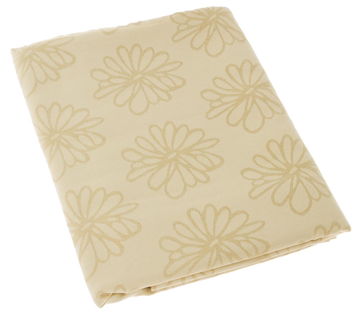 Скатерть Schaefer, прямоугольная, цвет: бежевый, 130 х 160 см. 08100-42708100-427Изящная прямоугольная скатерть Schaefer, выполненная из плотного полиэстера, станет украшением кухонного стола. Изделие декорировано красивым цветочным узором. За текстилем из полиэстера очень легко ухаживать: он не мнется, не садится и быстро сохнет, легко стирается, более долговечен, чем текстиль из натуральных волокон. Использование такой скатерти сделает застолье торжественным, поднимет настроение гостей и приятно удивит их вашим изысканным вкусом. Также вы можете использовать эту скатерть для повседневной трапезы, превратив каждый прием пищи в волшебный праздник и веселье. Это текстильное изделие станет изысканным украшением вашего дома!