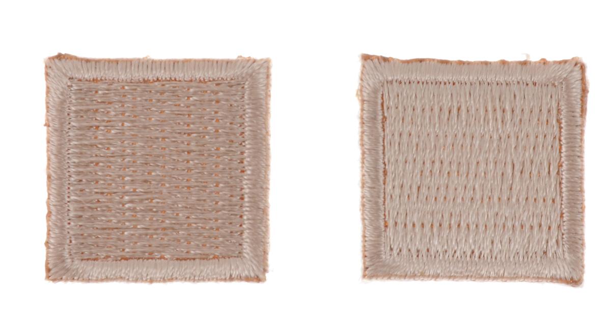 Термоаппликация Hobby&Pro Квадрат, цвет: бежевый, 2 х 2 см, 2 шт7700540_бежевыйТермоаппликация Hobby&Pro Квадрат изготовлена из текстиля. Изделие закрепляется на ткани при помощи утюга. Установите утюг на отметку Max, расположите аппликацию на изделии и прогладьте несколько раз через ткань с лицевой и изнаночной стороны. С такой термоаппликацией вы сможете обновить старые джинсы, рубашки, кофты, детскую одежду, вещь станет неповторимой и особенной.