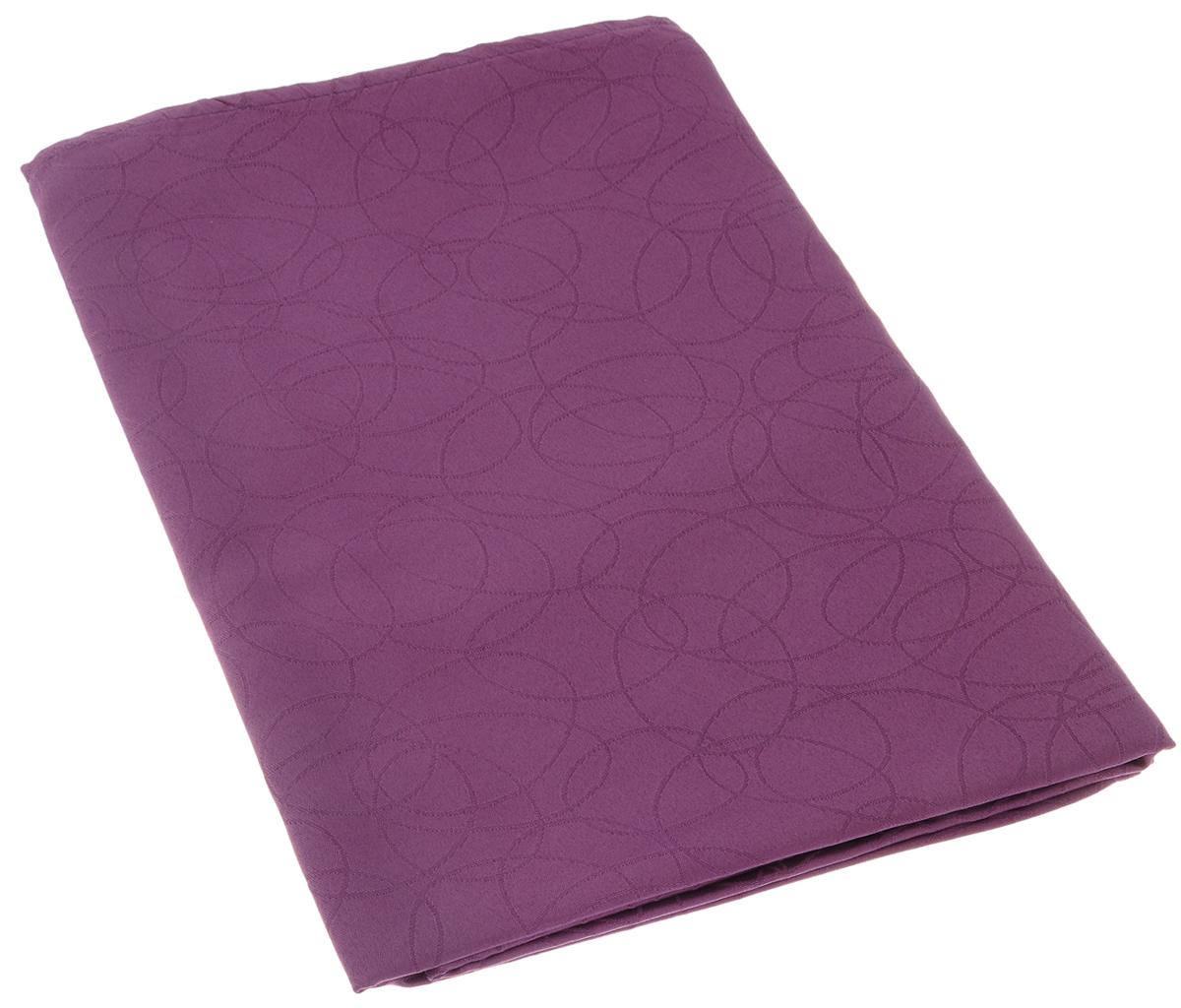 """Скатерть """"Schaefer"""", прямоугольная, цвет: фиолетовый, 130 х 160 см. 07547-427"""