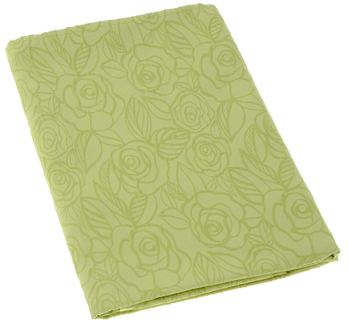 Скатерть Schaefer, прямоугольная, цвет: светло-зеленый, 130 х 160 см. 07548-42707548-427Изящная прямоугольная скатерть Schaefer, выполненная из плотного полиэстера с водоотталкивающей пропиткой, станет украшением кухонного стола. Изделие декорировано рельефным цветочным узором. За текстилем из полиэстера очень легко ухаживать: он не мнется, не садится и быстро сохнет, легко стирается, более долговечен, чем текстиль из натуральных волокон. Использование такой скатерти сделает застолье торжественным, поднимет настроение гостей и приятно удивит их вашим изысканным вкусом. Также вы можете использовать эту скатерть для повседневной трапезы, превратив каждый прием пищи в волшебный праздник и веселье. Это текстильное изделие станет изысканным украшением вашего дома!