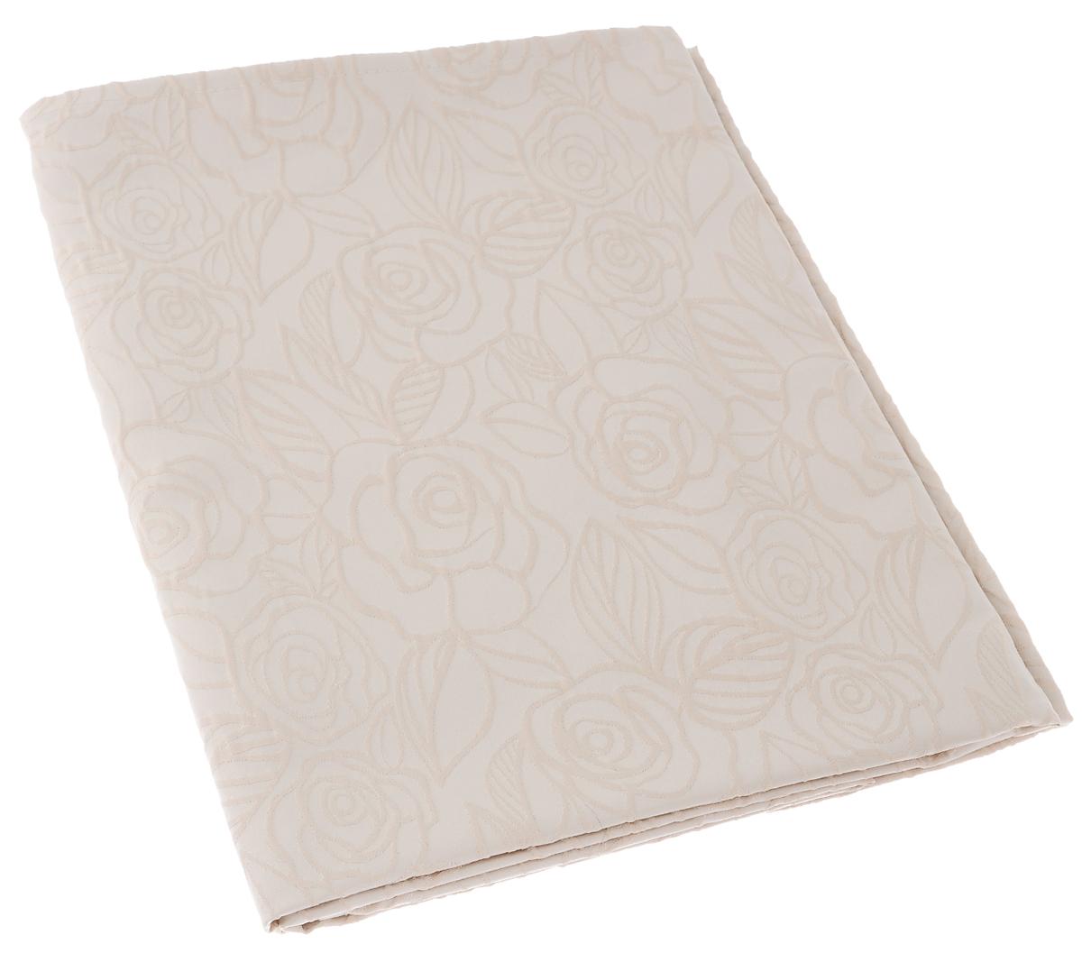 Скатерть Schaefer, прямоугольная, цвет: светло-бежевый, 130 х 160 см. 07550-42707550-427Изящная прямоугольная скатерть Schaefer, выполненная из плотного полиэстера с водоотталкивающей пропиткой, станет украшением кухонного стола. Изделие декорировано рельефным цветочным узором. За текстилем из полиэстера очень легко ухаживать: он не мнется, не садится и быстро сохнет, легко стирается, более долговечен, чем текстиль из натуральных волокон. Использование такой скатерти сделает застолье торжественным, поднимет настроение гостей и приятно удивит их вашим изысканным вкусом. Также вы можете использовать эту скатерть для повседневной трапезы, превратив каждый прием пищи в волшебный праздник и веселье. Это текстильное изделие станет изысканным украшением вашего дома!