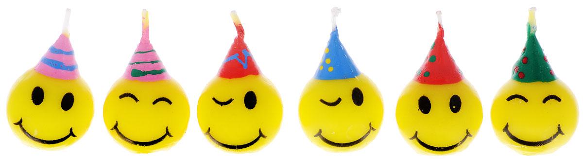 Action! Свечи для торта Смайлик 6 штAPI0314Свечи для торта Action! Смайлик подойдут для празднования особого торжественного события, например: новоселье, День рождения, сдача сессии или покупка автомобиля. Свечи выполнены в виде забавных смайлов. Помните, торт со свечами - это всегда беспроигрышный вариант, если вы хотите эффектно поздравить близкого человека с особо значимым событием в жизни. Экспериментируйте, делайте поздравления душевными и оригинальными. В наборе 6 свечей.