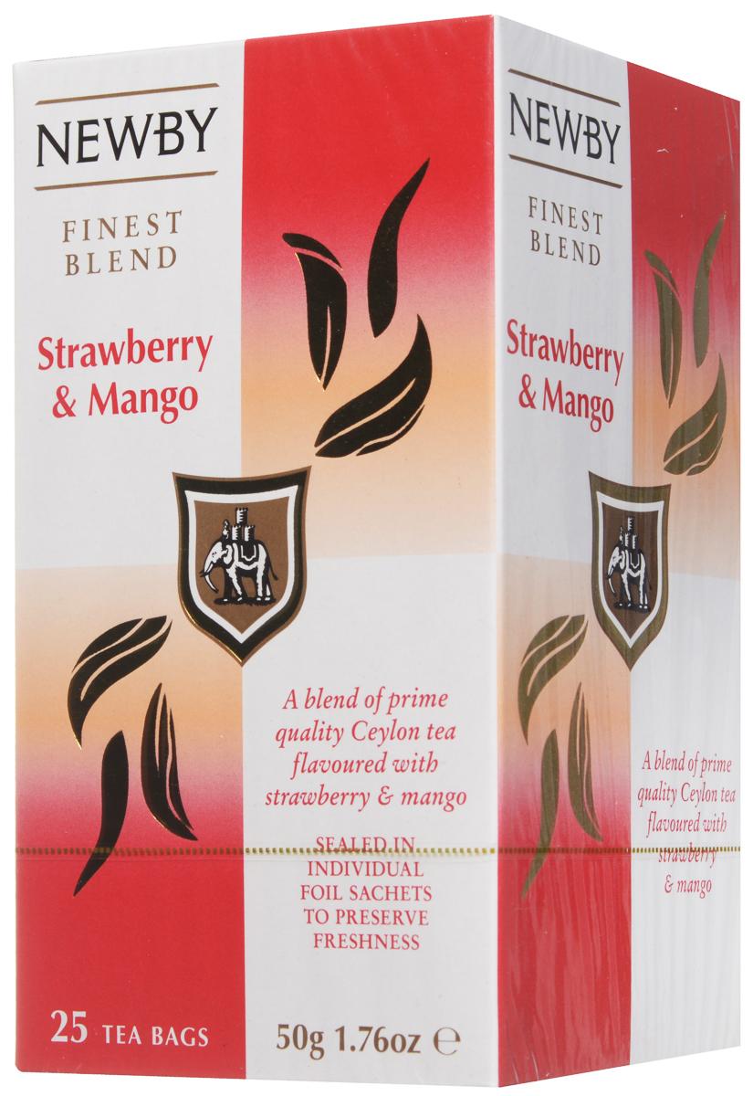 Newby Mango & Strawberry черный чай в пакетиках, 25 шт310130Черный чай Newby Mango & Strawberry обладает легко узнаваемым и приятным фруктово-ягодным ароматом, который придает готовому напитку необыкновенную легкость и мягкость.