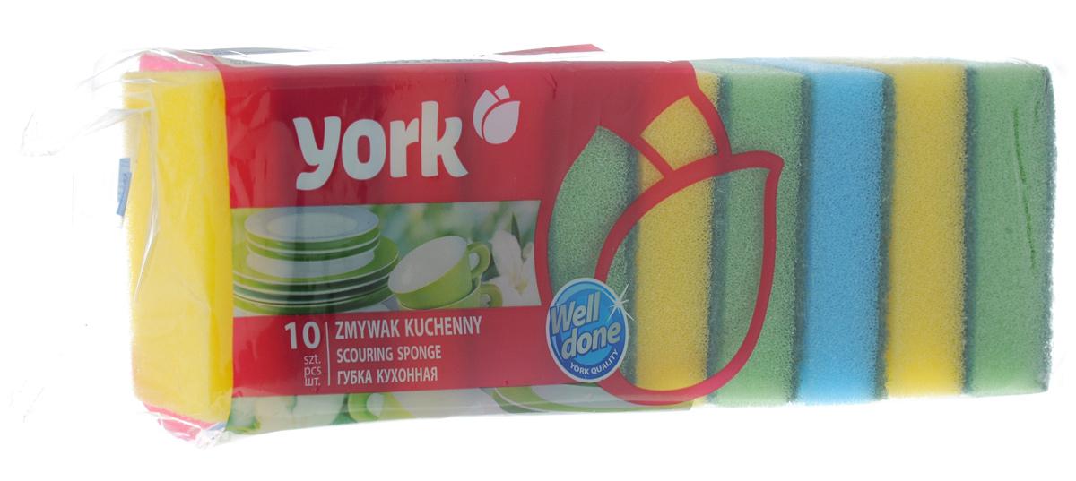 Губки для мытья посуды York Джамбо, 10 шт3003Губки для мытья посуды York Джамбо, выполненные из высококачественного сложного полимера, идеально чистят даже самые деликатные поверхности. Современный чистящий слой полностью удаляет сильные загрязнения. Антибактериальные свойства губки не позволяют накапливаться и размножаться бактериям. Губки York Джамбо сохраняют чистоту и свежесть даже после многократного применения. Размер губки: 9 х 6 х 2,7 см.