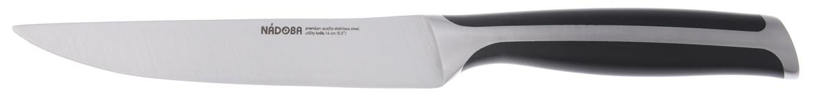 Нож универсальный Nadoba Ursa, длина лезвия 14 см722613Нож универсальный Nadoba Ursa изготовлен из высококачественной нержавеющей стали. Очень удобная и эргономичная рукоятка, изготовленная из ABS пластика, не позволит скользить ножу в руках и обеспечит безопасность при нарезке продуктов. Нож предназначен для нарезки мяса, овощей и фруктов. Такой нож займет достойное место среди аксессуаров на вашей кухне. Длина ножа: 25,5 см.