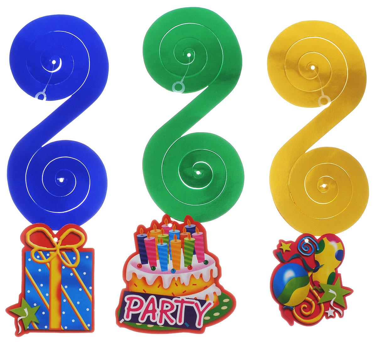 Action! Праздничная подвеска Вечеринка 3 штAPI0145Отличный набор ярких подвесок Action! Вечеринка, который великолепно украсит любую вечеринку и придаст праздничную атмосферу. Яркая подвеска украсит ваш праздник и подарит имениннику отличное настроение. В наборе 3 праздничные подвески.