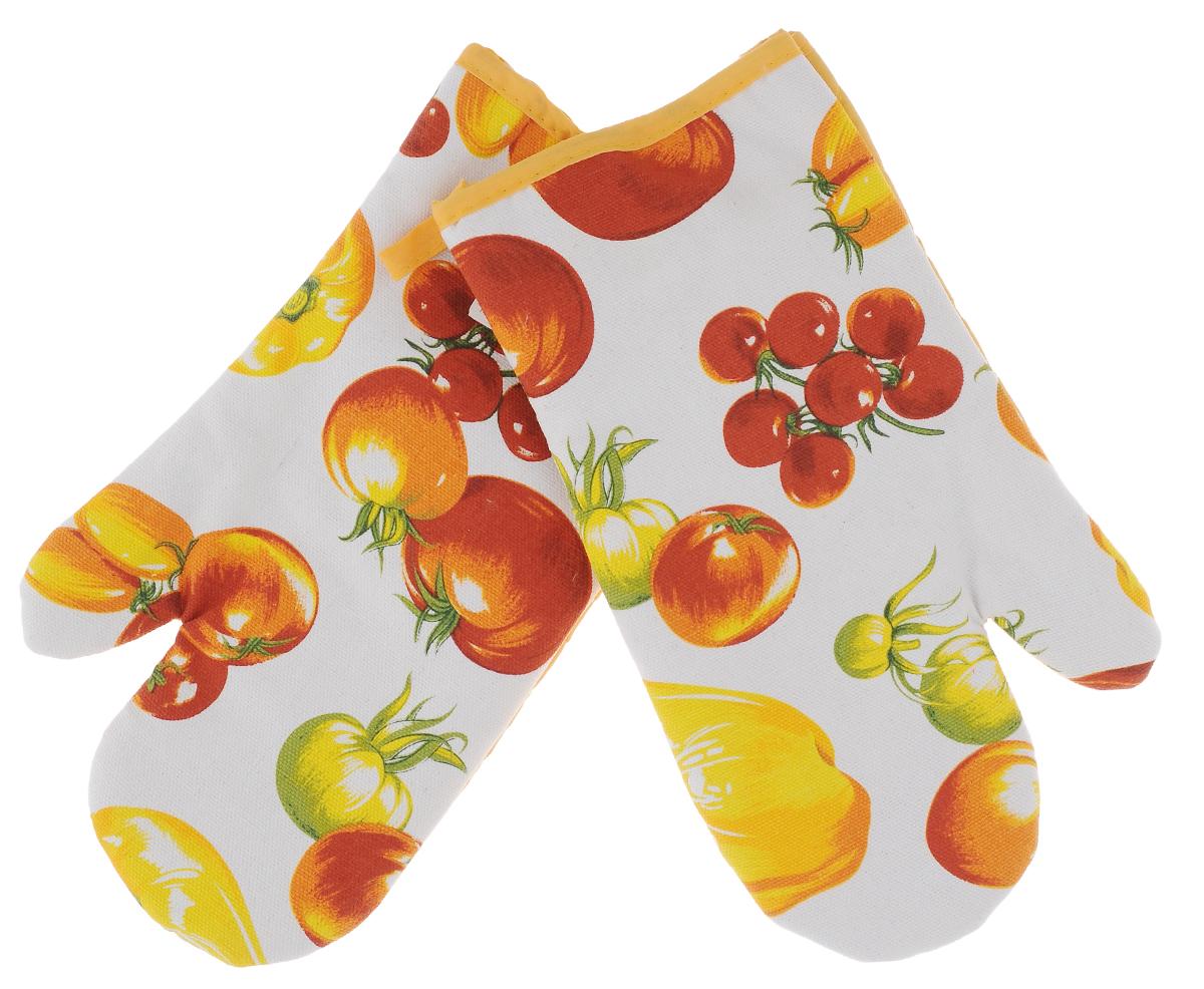 Прихватки-варежки Schaefer Овощной урожай, цвет: белый, желтый, красный, 17 х 29 см, 2 шт07233-113_1Красочные прихватки-варежки для горячего Schaefer Овощной урожай, изготовленные из 100% хлопка, станут украшением любой кухни. С помощью специальной петельки изделия можно вешать на крючок. В наборе - 2 прихватки (на правую и левую руку). Прихватки-варежки Schaefer Овощной урожай - отличный вариант для практичной и современной хозяйки.
