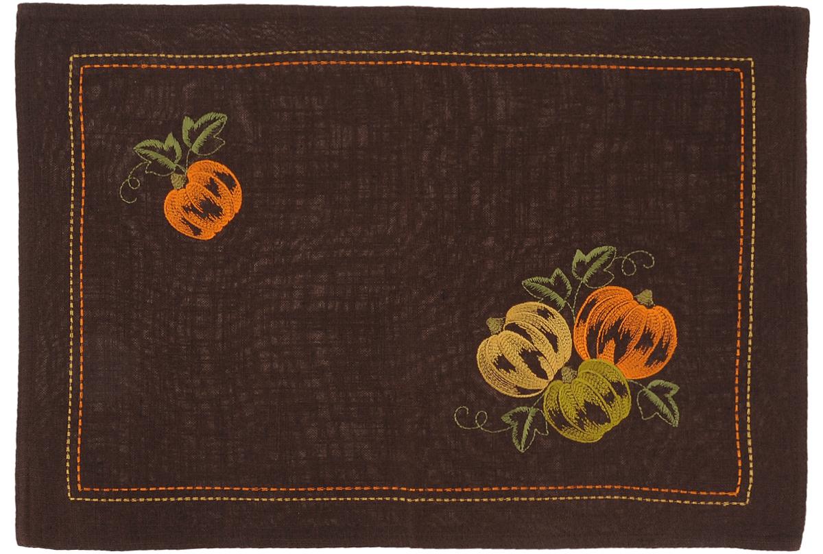 Салфетка Schaefer Спелые тыквы, прямоугольная, цвет: оранжевый, зеленый, коричневый, 35 х 50 см06903-303Прямоугольная салфетка Schaefer Спелые тыквы, выполненная из полиэстера, украшена оригинальной вышивкой. Дизайнерские идеи немецких художников компании Schaefer воплощаются в текстильных изделиях, которые сделают ваш дом красивее и уютнее и не останутся незамеченными вашими гостями. Дарите себе и близким красоту каждый день!