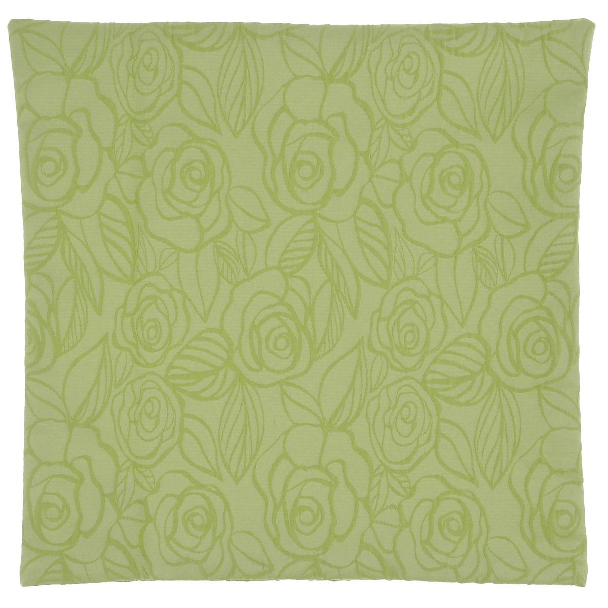 Наволочка декоративная Schaefer, цвет: светло-зеленый, 40 х 40 см07548-501Наволочка Schaefer выполнена из полиэстера и украшена цветочным узором. Наволочка застегивается на потайную застежку-молнию. Изделия из полиэстера легко стирать: они не мнутся, не садятся и быстро сохнут, они более долговечны, чем изделия из натуральных волокон. Это текстильное изделие станет удобным и комфортным украшением вашего дома!