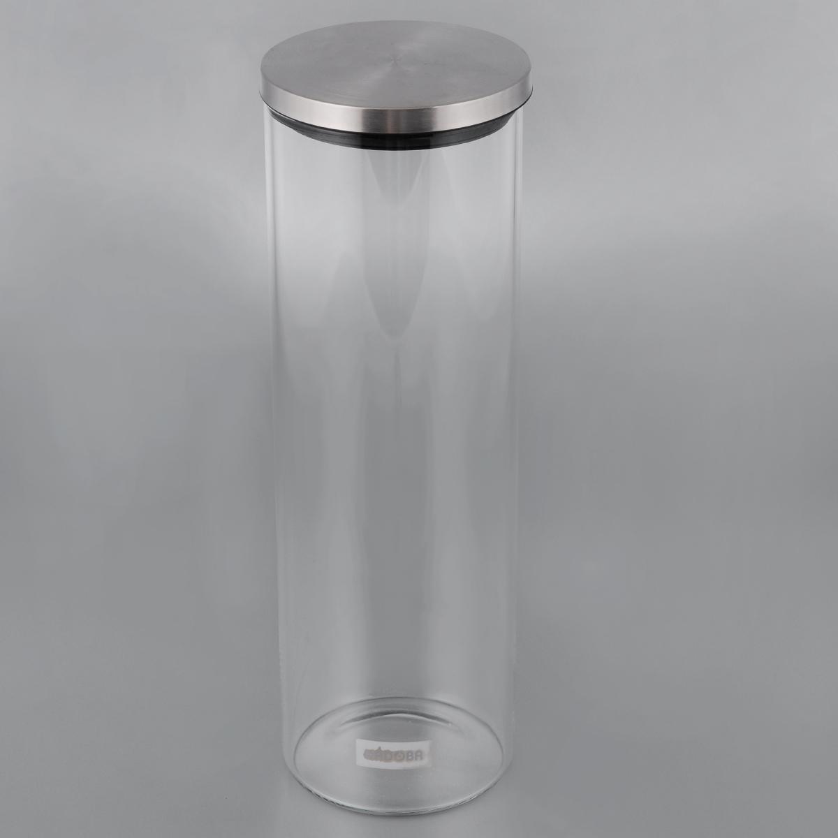 Емкость для сыпучих продуктов Nadoba Silvana, 1,65 л741410Емкость Nadoba Silvana, изготовленная из высокопрочного стекла, оснащена стальной герметичной крышкой. Благодаря эргономичному дизайну изделие удобно брать одной рукой. Стенки емкости прозрачные - хорошо видно, что внутри. Изделие идеально подходит для хранения различных сыпучих продуктов: круп, макарон, специй, кофе, сахара, орехов, кондитерских изделий и многого другого. Диаметр емкости (по верхнему краю): 9,5 см. Высота (без учета крышки): 28,5 см.