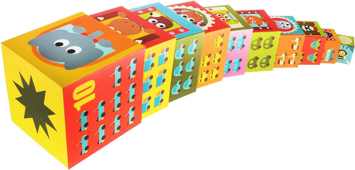 Djeco Кубики-пирамида Машины08508Кубики-пирамида Djeco Машины - набор кубиков разной величины и расцветок, которые можно ставить друг на друга или складывать один в другой. Яркая игрушка с большим количеством деталей и картинок порадует вашего малыша. Ребенок с увлечением будет строить из кубиков домики для животных. На деталях набора изображены различные машинки, представители дикой природы, домашние питомцы. Кубики выполнены из плотного картона высокого качества, они легкие и безопасные для маленьких детей. В наборе 10 кубиков.