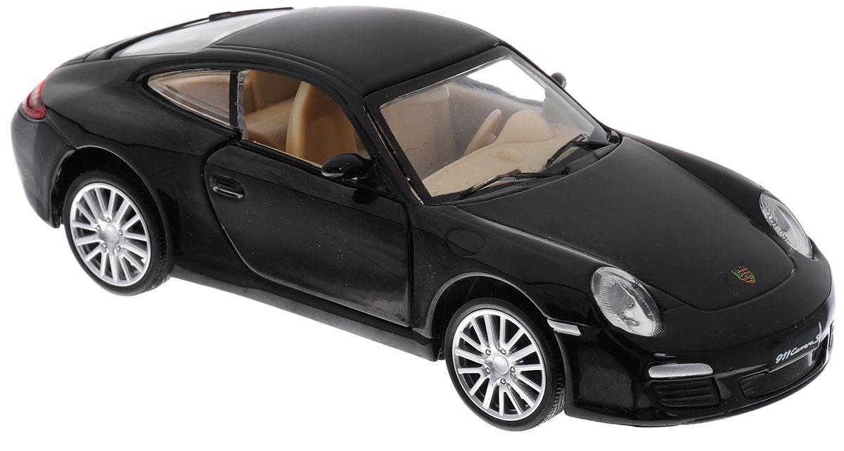 Maxi Toys Модель автомобиля Porsche Carrera SCP-68374-BLМодель автомобиля Maxi Toys Porsche Carrera S - это точная копия оригинальной машины в масштабе 1:32. Выполненная из высококачественного металла и пластика, она обязательно понравится не только ребенку, но и взрослому. Модель автомобиля имеет световые и звуковые эффекты. Дверцы машины открываются, фары светятся, салон детализирован. Игрушка оснащена инерционным ходом. Для того, чтобы автомобиль поехал вперед, необходимо его отвести назад, а затем резко отпустить. Прорезиненные колеса обеспечивают надежное сцепление с любой поверхностью пола. Машинка является отличным подарком для юного гонщика. Во время игры с такой машинкой у ребенка развивается мелкая моторика рук, фантазия и воображение. Для работы игрушки необходимы 3 батарейки типа AG13 (товар комплектуется демонстрационными).