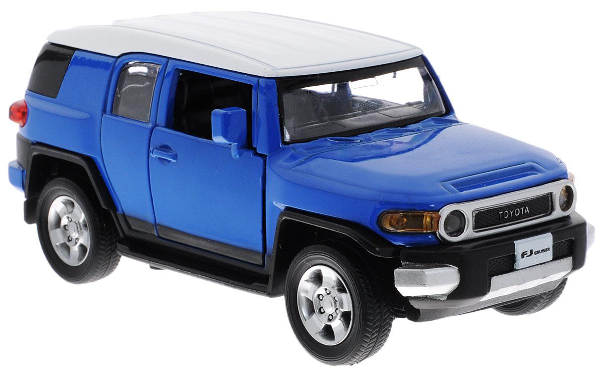 MSZ Модель автомобиля Toyota FJ CruiserCP-68304-BМодель автомобиля MSZ Toyota FJ Cruiser - это точная копия оригинальной машины в масштабе 1:32. Выполненная из высококачественного металла и пластика, она обязательно понравится не только ребенку, но и взрослому. Модель автомобиля имеет световые и звуковые эффекты. Дверцы машины открываются, фары светятся, салон детализирован. Игрушка оснащена инерционным ходом. Для того, чтобы автомобиль поехал вперед, необходимо его отвести назад, а затем резко отпустить. Прорезиненные колеса обеспечивают надежное сцепление с любой поверхностью пола. Машинка является отличным подарком для юного гонщика. Во время игры с такой машинкой у ребенка развивается мелкая моторика рук, фантазия и воображение. Для работы игрушки необходимы 3 батарейки типа AG13 (товар комплектуется демонстрационными).