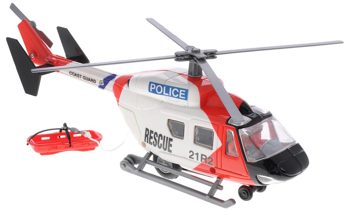 Dickie Toys Вертолет инерционный Полиция3564966_белый красныйЯркий вертолет Dickie Toys Полиция с двумя пилотами захватит внимание вашего ребенка и надолго останется его любимой игрушкой. Модель является миниатюрной копией реального вертолета и имеет инерционный механизм движения по поверхности. При движении лопасти вертолета вращаются. В открывающемся заднем грузовом отсеке находится кабельная лебедка, которой можно управлять вручную. Вертолет оснащен колесами и полозьями, что позволяет ему приземляться на различных поверхностях. Порадуйте своего ребенка таким замечательным подарком!