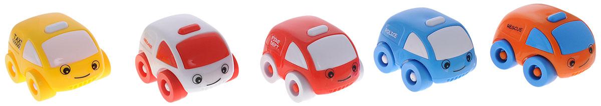 Dolu Мини-машинка5042Набор мини-машинок Dolu обязательно привлекут внимание вашего малыша. Игрушки выполнены из безопасного материала в виде забавных машинок: такси, полиция, скорая помощь, спасательная служба, пожарная. Оснащены четырьмя колесиками со свободным ходом. Плавные формы машин без острых углов, яркие цвета - все это выгодно выделяет эти игрушки из ряда подобных. Такие мини-машинки способствует развитию у малыша тактильных ощущений, мелкой моторики рук и координации движений.
