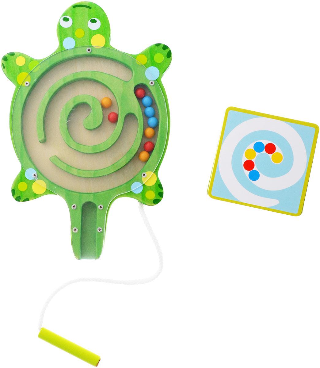 Djeco Развивающая игрушка Лабиринт Черепаха01690Развивающая игрушка Djeco Лабиринт. Черепаха - увлекательная головоломка в виде милой черепашки для детей возраста от трех лет. В наборе имеется 12 карточек с заданиями, согласно которым ребенок должен расположить шарики в черепашке таким же образом. Располагать шарики ребенок будет с помощью магнитной палочки. Игра прекрасно развивает детскую моторику, логическое мышление и сообразительность. Набор изготовлен из безопасных высококачественных материалов.