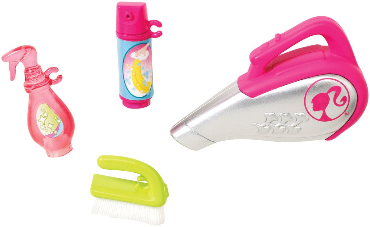 Barbie Мини-набор для декора УборкаCFB50_CFB57Кукла Барби известна своим особым стилем. А теперь и каждая девочка может создать свой особый стиль. Богатый выбор аксессуаров, продающихся по отдельности, сделает дом Барби идеальной декорацией для задуманной истории. Этот набор позволит создать атмосферу настоящей уборки. В комплекте: игрушечный парогенератор, щетка, два флакона. Замечательные аксессуары в стиле Барби подойдут к домам с самым разным дизайном (дома продаются отдельно).
