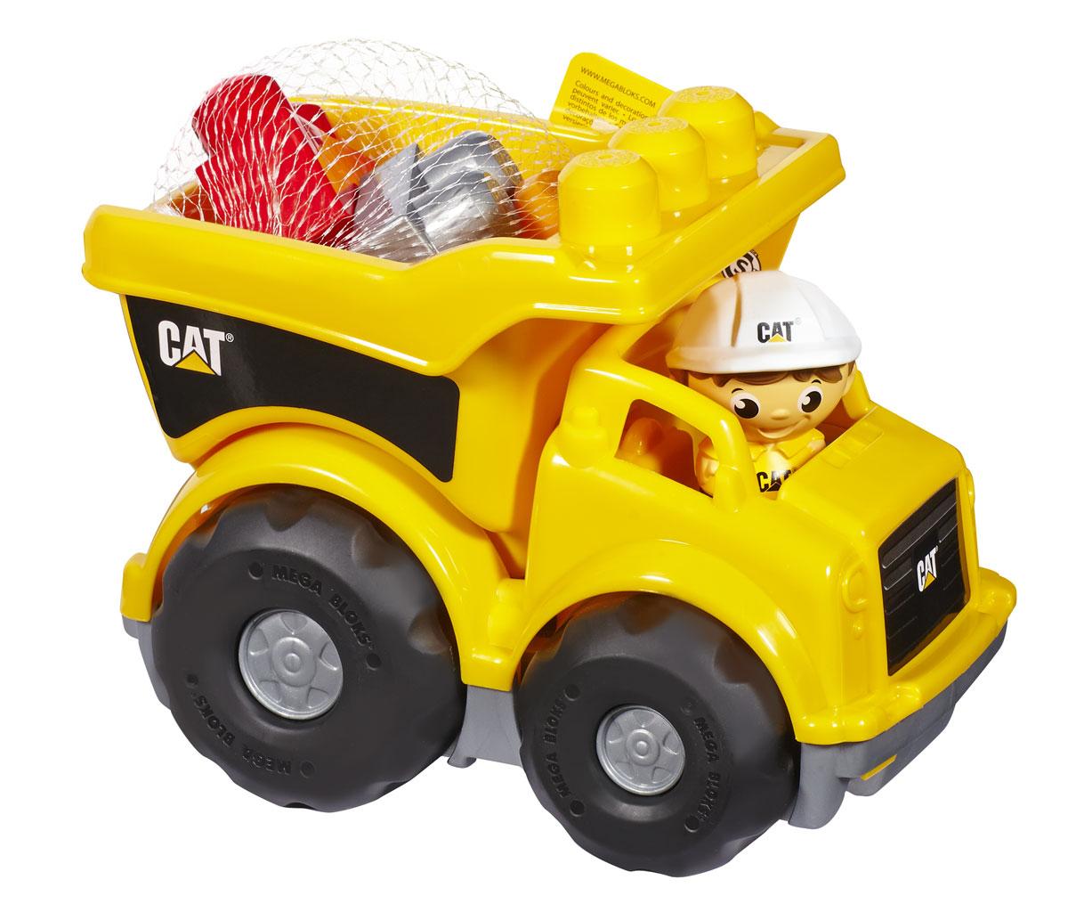 Mega Bloks First Builders Конструктор Самосвал КатерпилларCND88Осторожно! Маленький самосвал Катерпиллар от Mega Bloks вот-вот высыпает гравий из кузова на строительную площадку! Крепкие колеса и кузов этого ярко-желтого грузовика гарантируют много часов веселой езды и возни на стройке. Самосвал имеет просторный опрокидывающийся кузов, что позволяет легко разгружать перевозимые блоки! Реалистичная машинка делает практически то же, что и настоящий самосвал. Самосвал Катерпиллар от Mega Bloks отлично подходит для маленьких строителей с большими планами. Идеальная игрушка для детей в возрасте от 1 до 5 лет. В комплект с машиной входит фигурка рабочего и 6 блоков. Набор совместим с другими наборами серии First Builders. Ваш ребенок часами будет играть с набором, придумывая разные истории.