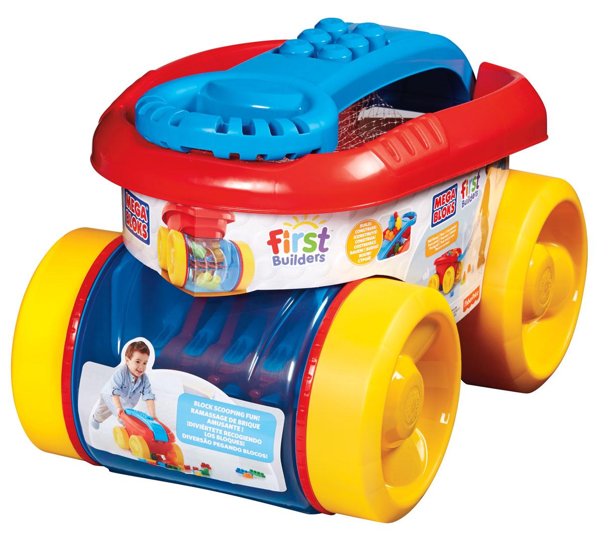 Mega Bloks First Builders Конструктор Веселый вагончик для сбора кубиков цвет красный желтыйCNK34_CNG23Вашего маленького строителя ждет масса сюрпризов и море веселья с конструктором Mega Bloks Веселый вагончик для сбора кубиков! Ребенок может катать этот красочный вагончик, собирая в него кубики First Builders. Или построить что-нибудь! Вагончик собирает кубики, при движении можно наблюдать как они перекатываются внутри прозрачной емкости. Ребенок может возить его за собой, держа за удобную ручку. Достаньте кубики из вагончика, дайте волю фантазии и постройте все что захотите! Строить можно прямо на ручке вагончика! Вашему малышу обязательно понравится один из вариантов игры!