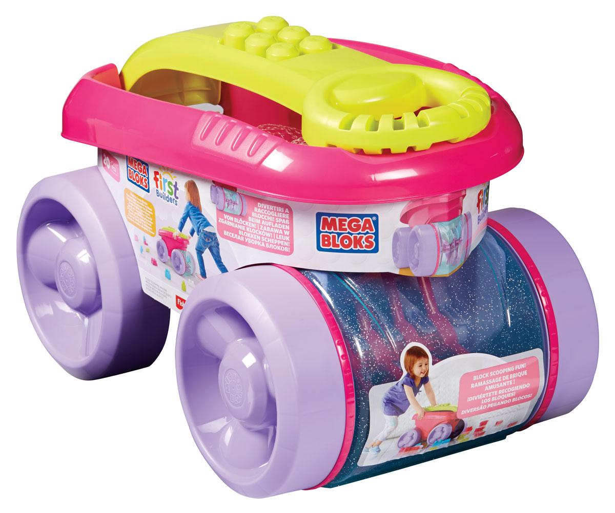 Mega Bloks Конструктор Веселый вагончик для сбора кубиков цвет розовый сиреневыйCNK34_CNK33Вашего маленького строителя ждет масса сюрпризов и море веселья с конструктором Mega Bloks Веселый вагончик для сбора кубиков! Ребенок может катать вагончик, собирая в него кубики. Или построить что-нибудь! При сборе кубиков можно наблюдать, как они перекатываются внутри прозрачной емкости. Ребенок может возить ее за собой, держа за удобную раздвижную ручку. Достаньте кубики из веселого вагончика, дайте волю фантазии и постройте все что захотите! Строить можно прямо на ручке тележки! Набор предусматривает так много вариантов игры, что вашему малышу обязательно понравится строить и катать вагончик, собирающий кубики!