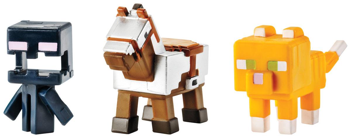 Minecraft Набор фигурок Лошадь в броне, Кричащий странник и Полосатый котCGX24_DKD57Даже самым увлеченным игрокам иногда приходиться отключаться от компьютера. Теперь можно не расставаться с героями любимой игры, когда компьютер выключен. Набор фигурок Minecraft создан по популярной видеоигре Майнкрафт. В набор входят три фигурки. Все элементы изготовлены из качественного и безопасного материала и стилизованы под персонажей игры. Один из лучших подарков, который можно подарить поклонникам вселенной Майнкрафт.