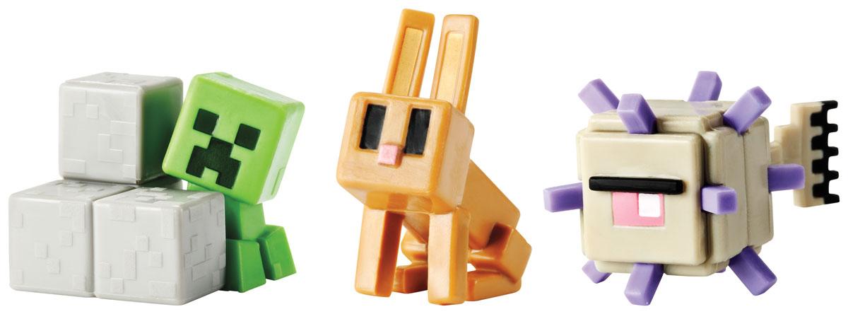 Minecraft Набор фигурок Elder Guardian, Sneaky Creeper & RabbitCGX24_DKD59Даже самым увлеченным игрокам иногда приходиться отключаться от компьютера. Теперь можно не расставаться с героями любимой игры, когда компьютер выключен. Набор фигурок Minecraft создан по популярной видеоигре Майнкрафт. В набор входят три фигурки. Все элементы изготовлены из качественного и безопасного материала и стилизованы под персонажей игры. Один из лучших подарков, который можно подарить поклонникам вселенной Майнкрафт.