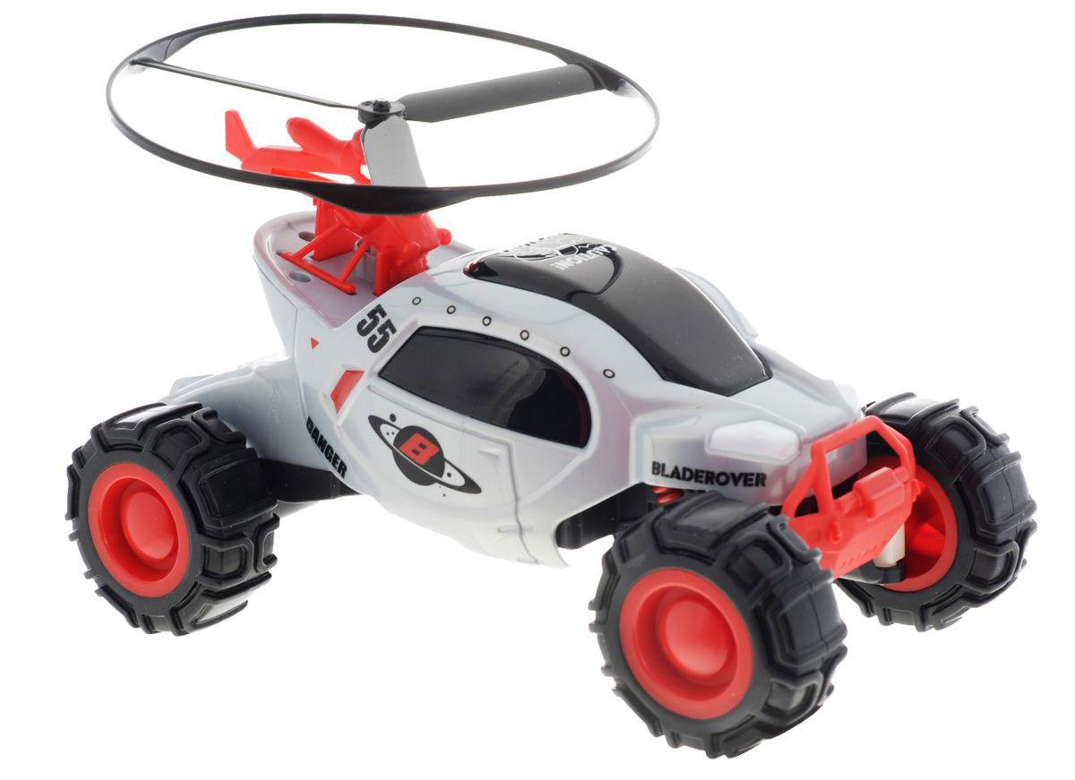 Maisto Машина на радиоуправлении Bladerover с вертолетом цвет серый81163 R/C_серый_1968Радиоуправляемая машина с вертолетом Bladerover доставит массу приятных впечатлений людям любого возраста. Игрушка отличается ярким, оригинальным дизайном и удобным управлением. В набор входит радиоуправляемый автомобиль и вертолет, который крепится на корпусе машины. Вертолет может взлетать с машинки, когда она находится в движении или когда она неподвижна. По команде с пульта управления, вертолет взлетает примерно на 1,5 м. В комплекте с машинкой и вертолетом идет один пульт управления на две игрушки. Для работы пульта необходимо 1 батарейк1 Крона 9V, для работы автомобиля - 4 батарейки типа АА (не входят в комплект).