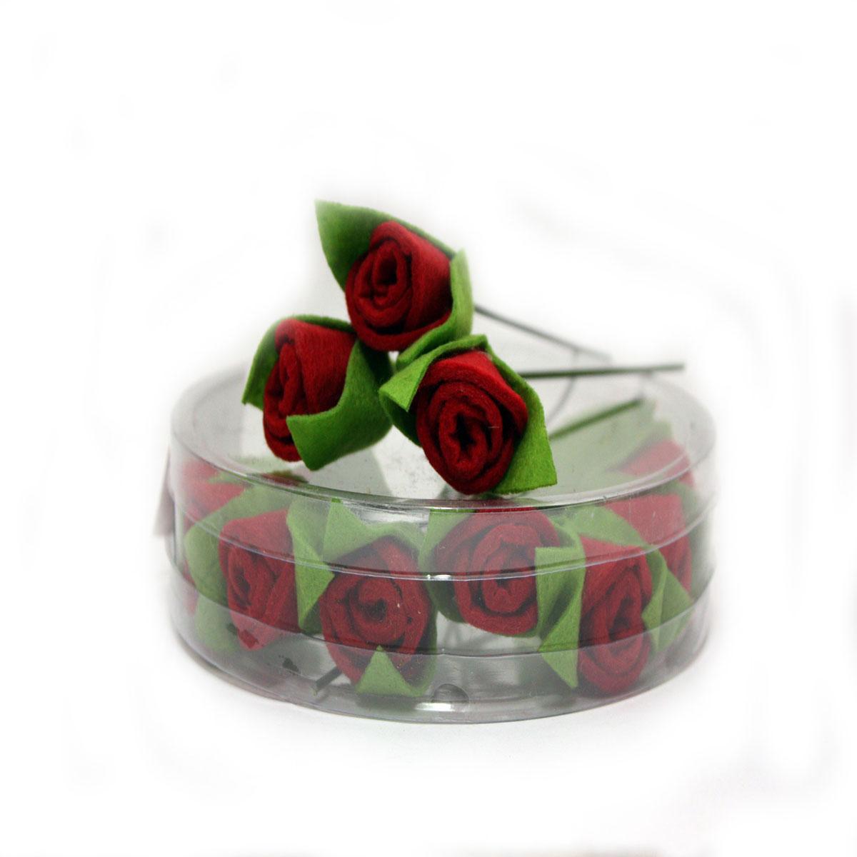 Набор декоративных украшений RTO Розочки, цвет: красный, зеленый, 12 шт подвеска винтажная rto стульчик