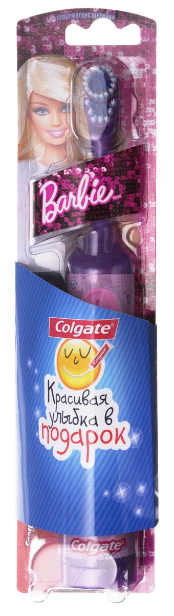 Colgate Зубная щетка Barbie, электрическая, с мягкой щетиной, цвет: фиолетовый, розовыйFCN10038_фиолетовый/розовыйColgate Зубная щетка Barbie, электрическая, с мягкой щетиной, цвет: фиолетовый, розовый