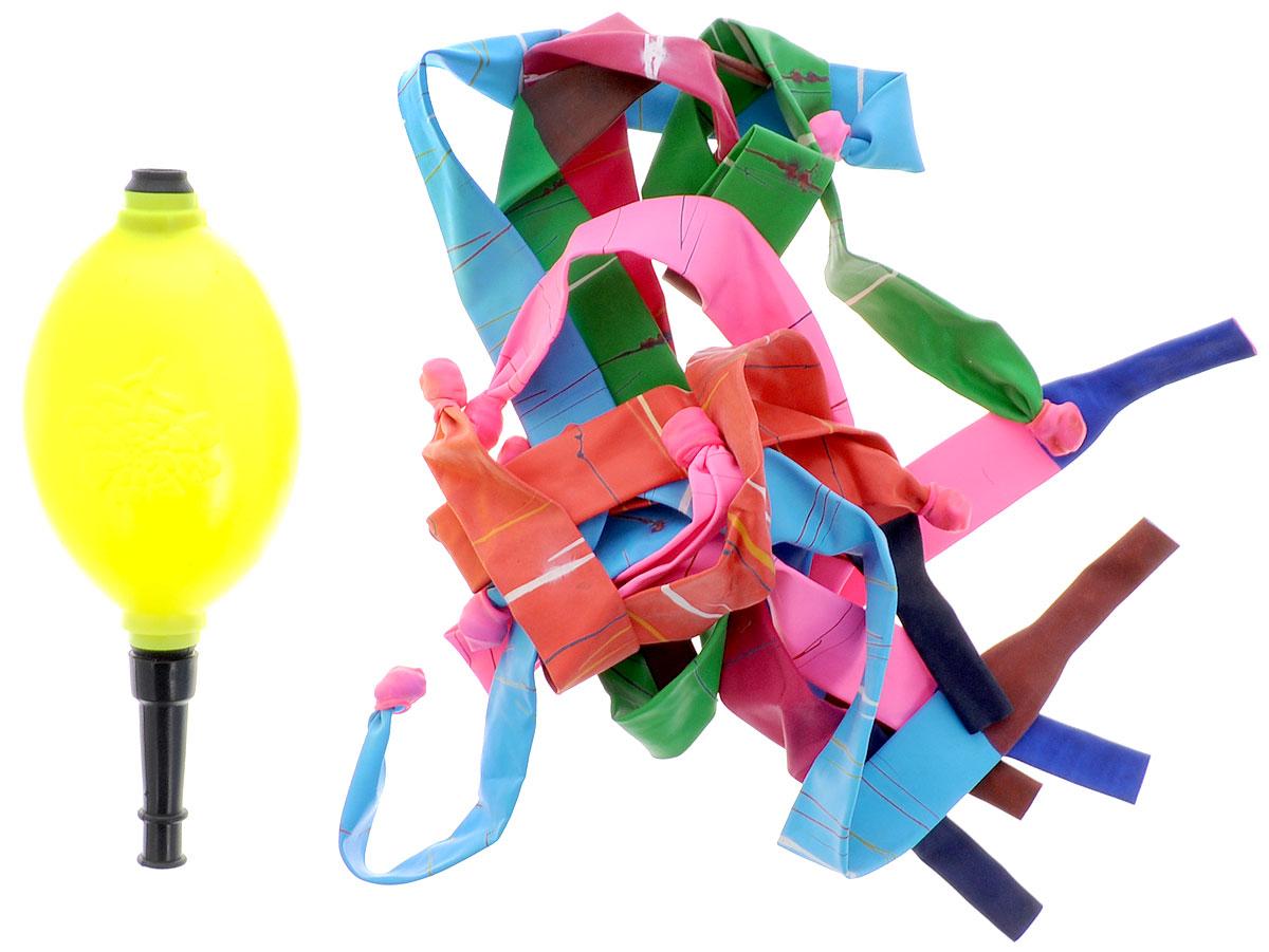 Action! Шары воздушные Свистящие ракеты с насосом 10 штAPI0070/MШары воздушные Action! Свистящие ракеты внесут яркие краски в любой праздник. Этот набор незаменим для детских праздников. Юный именинник с радостью самостоятельно сможет украсить комнату цветными фигурками. Так же можно надувать шар насосом и запускать в воздух. В наборе 10 шаров и насос. Уважаемые клиенты! Обращаем ваше внимание на возможные варьирования цвета насоса. Поставка возможна в зависимости от наличия на складе.