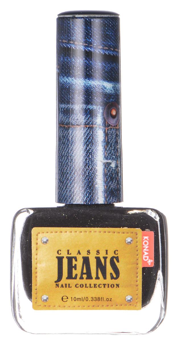 KONAD Коллекция Classic Jeans текстурный лак Nail 01 - Black Jeans 10 млNP-CDP01Текстурный лак модной джинсовой расцветки, тренд сезона