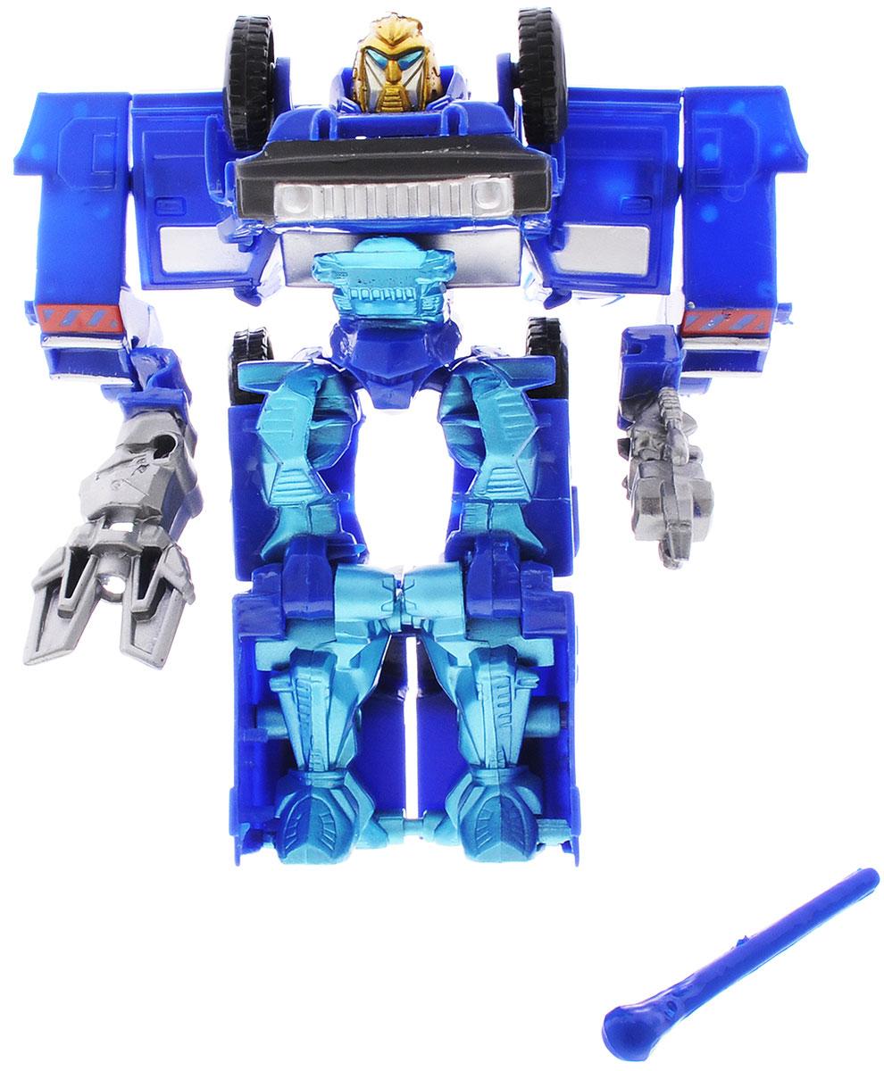 Тилибом Робот-трансформер цвет синий голубойТ80485_синий, голубойРобот-трансформер Тилибом из серии Стражи галактики понравится любому маленькому поклоннику роботов и автомобилей! Игрушка выполнена из высококачественного пластика, в комплект входит оружие. Игрушка имеет две вариации: из грозного робота она легко превращается в мощные машины. Руки, ноги и голова игрушки подвижны, что позволяет придавать ей различные позы. Подобные занятия очень полезны для детей, они способствуют развитию памяти, смекалки, так же развивают воображение, внимательность, мышление и координацию движений. Ребенок с удовольствием будет играть с роботом- трансформером, придумывая разные истории. Порадуйте его таким замечательным подарком!