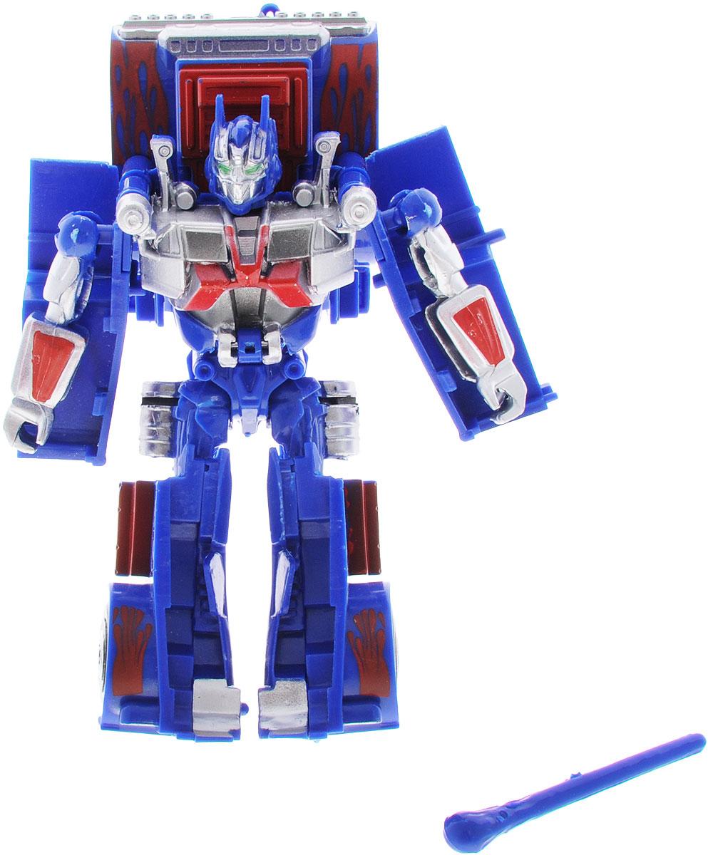 Тилибом Робот-трансформер цвет синий красныйТ80485_синий, красныйРобот-трансформер из серии Стражи галактики сине-красного цвета порадует вашего ребенка и надолго займет его внимание. Он выполнен из прочного и безопасного пластика. Конструкция робота имеет подвижные соединения, благодаря чему, ему можно придавать различные позы. Трансформер имеет две вариации: первая - робот с грозным оружием, вторая - мощная машина. Превратить робота в транспортное средство поможет инструкция на упаковке. Порадуйте ребенка таким замечательным подарком!