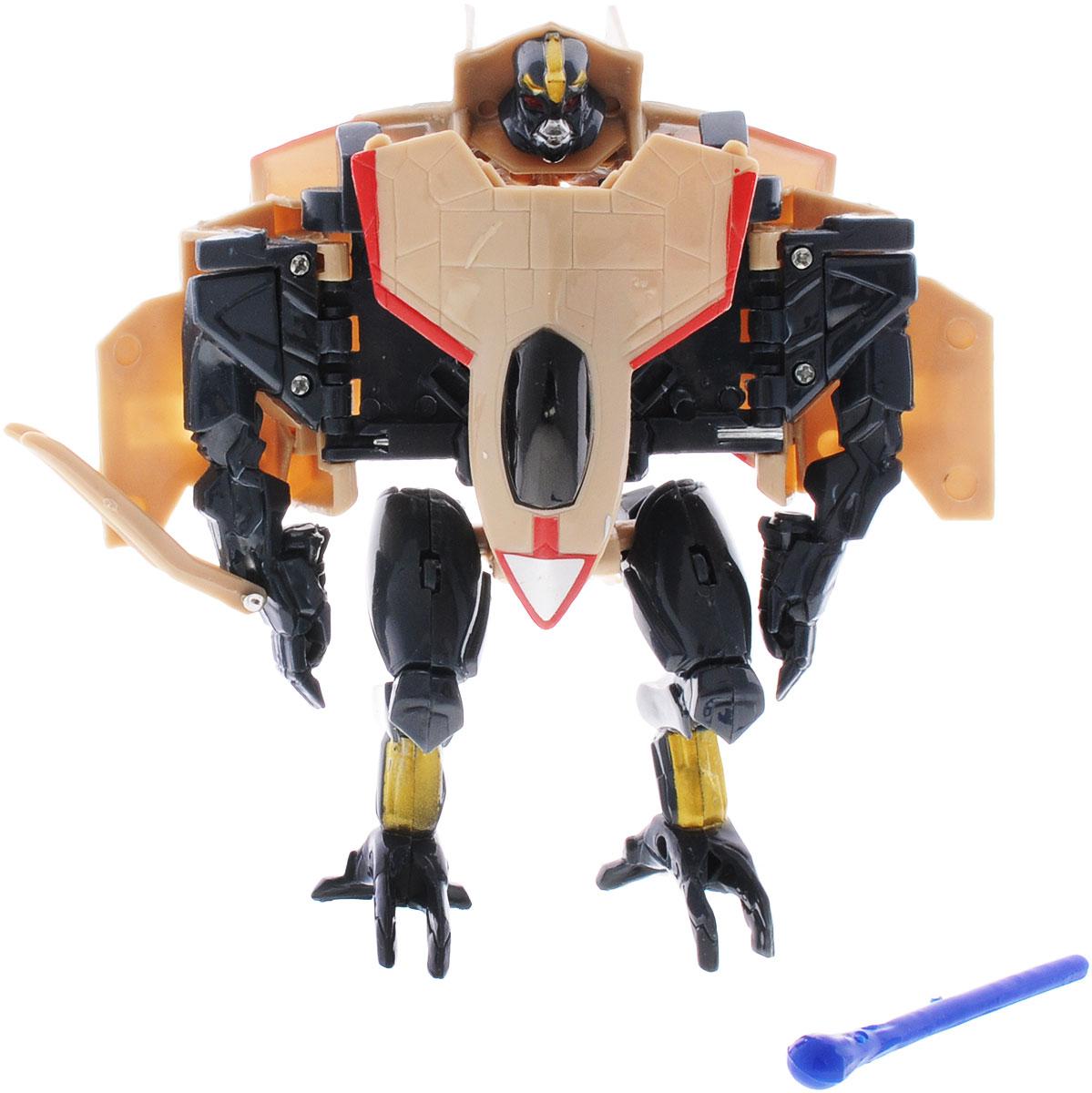 Тилибом Робот-трансформер цвет черный бежевыйТ80485_черный,бежевыйОригинальный робот-трансформер из серии Стражи галактики порадует вашего ребенка и надолго займет его внимание. Он выполнен из прочного пластика черного и бежевого цветов. Конструкция робота имеет подвижные соединения, благодаря чему, ему можно придавать различные позы. Трансформер имеет две вариации: первая - робот с грозным оружием, вторая - мощная самолет. Превратить робота в транспортное средство поможет инструкция на упаковке. Порадуйте ребенка таким замечательным подарком!