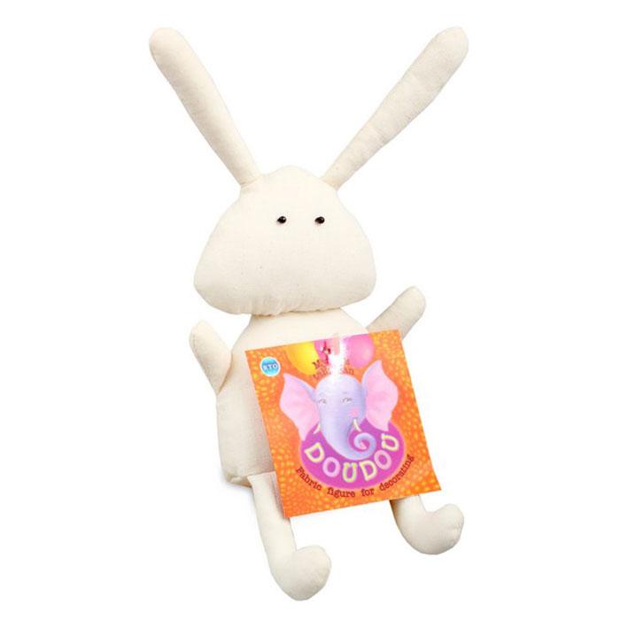 Основа для декора RTO Doudou. Зайка, 13 х 4,5 х 24 смST-29Основа RTO Doudou. Зайка предназначена для декорирования. Изделие выполнено из 100% хлопка, наполнитель - полиэстер. Игрушку можно раскрасить, сделать декупаж по ткани, расшить бисером или пайетками - и получится отличный талисман, который можно подарить другу или оставить себе!
