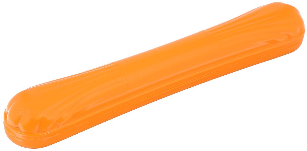 Футляр для зубной щетки Альтернатива, цвет: персиковый, 20 см х 3 смM1028Защитный футляр Альтернатива, изготовленный из прочного пластика, предназначен для сохранения в чистоте зубных щеток во время путешествий. Футляр имеет универсальную форму, которая подойдет для щеток любой конфигурации.